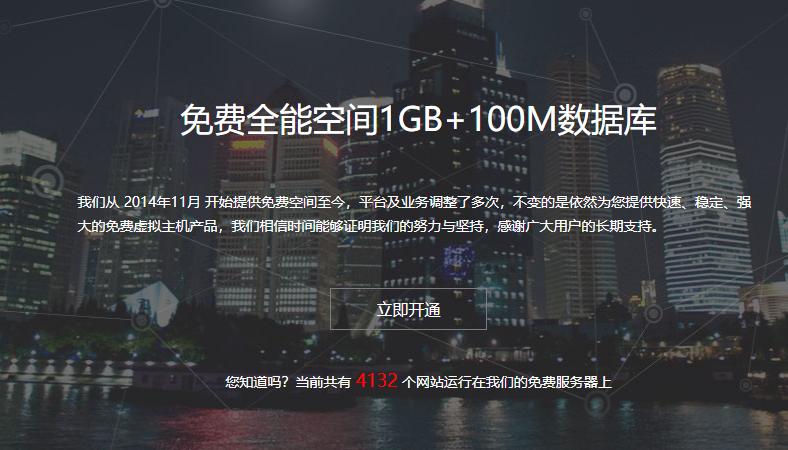 云邦互联提供1G免费全能空间